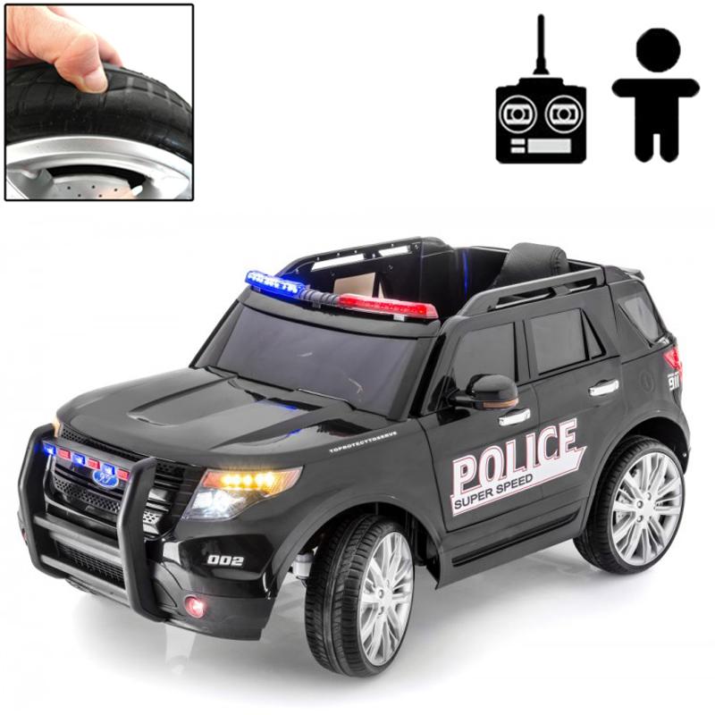 Afholte Elbil - Police Force 12V - Svart - Rull - Litenleker.se XC-13
