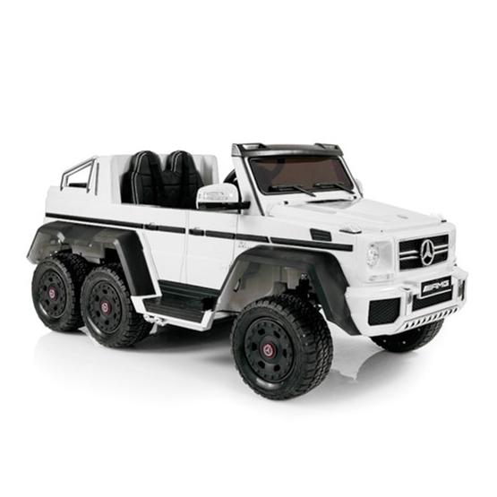 Elbil - Mercedes G63 6x6 12V - Vit
