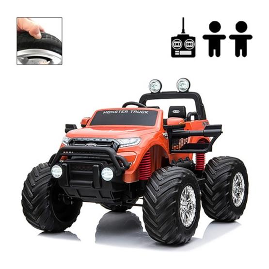 Elbil - Ford Ranger Monster Truck 4WD 12V - Orange