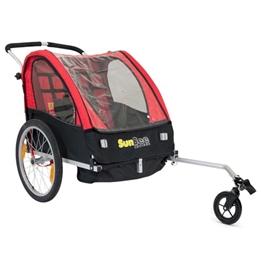 Cykelvagn - SunBee Cruiser - Röd/Svart