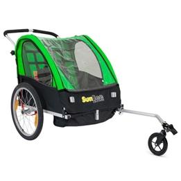 Cykelvagn - SunBee Cruiser - Grön/Svart