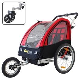 Cykelvagn - SunBee Cruiser Barnvagnskit/Stroller - Svart/Röd