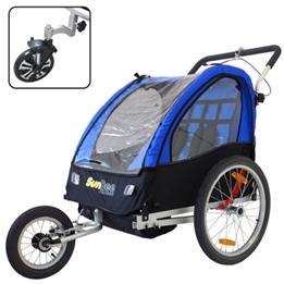 Cykelvagn - SunBee Cruiser Barnvagnskit/Stroller - Svart/Blå