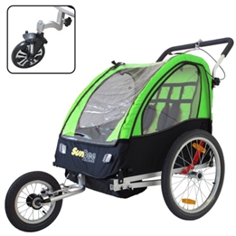 Cykelvagn - SunBee Cruiser Barnvagnskit/Stroller - Svart/Grön