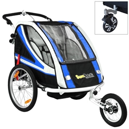 Cykelvagn - SunBee Supreme XL Barnvagnskit/Stroller - Svart/Blå