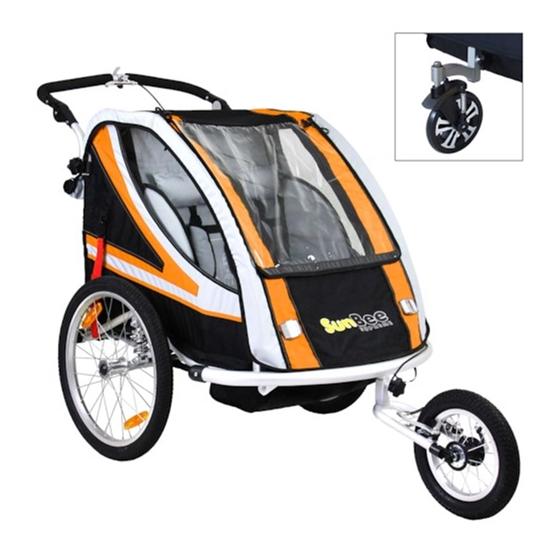 Cykelvagn - SunBee Supreme XL Barnvagnskit/Stroller - Svart/Orange