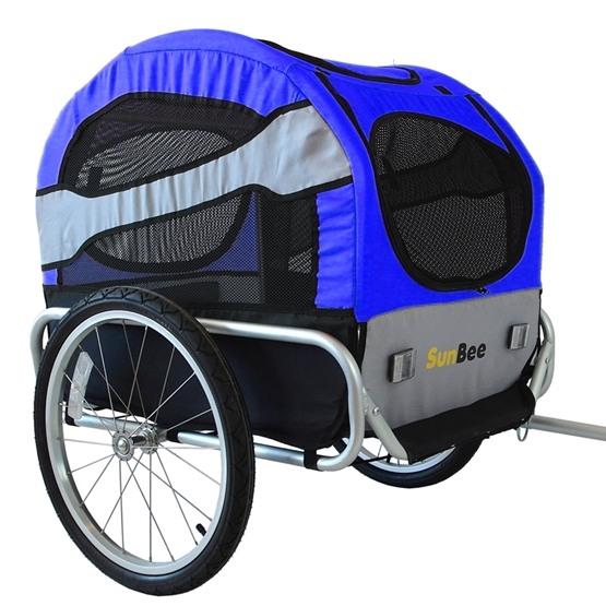 Sunbee - Cykelvagn Tassen - För Husdjur - Svart/Blå