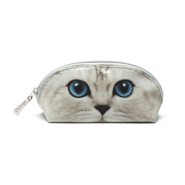 Catseye - Silver Kitty Oval Bag