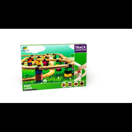 Toy2 - Tågebanedelar - Basic Pack - Large