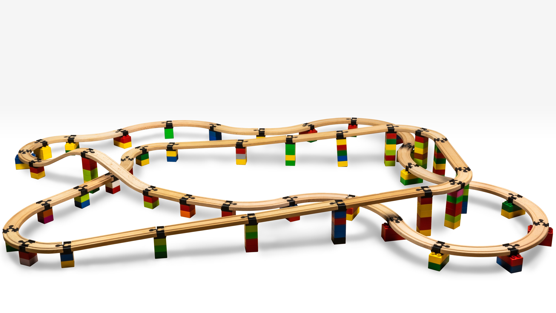 TOY2 Toy2 - Tågebanedelar - 50 Basis Connectors