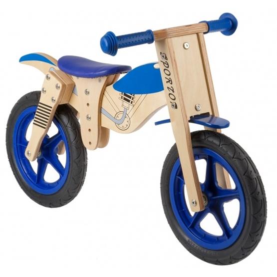 Kids Club - Balanscykel - Loopfiets Balance 12 Tum Junior Blå/Blank