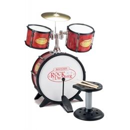 Bontempi - Rock Drummer Drum Röd / Svart 7 Pcs