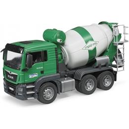 Bruder - Man Tgs Cement Mixer 1:16 Plastic Grön (03710)