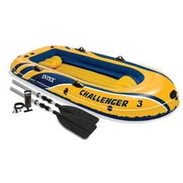 Intex - Inflatable Boat Challenger 3 Set 3-Seater 4-Pc