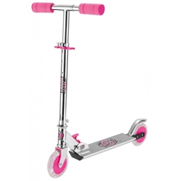 Xootz - Sparkcykel - Step Folding Led Wielen Fotbroms Rosa