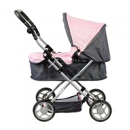Mini Mommy - Dockvagn Rosa/Grå