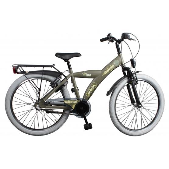 Bike Fun - Barncykel - Camouflage 20 Tum 3 Växlar Army Grön