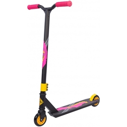 Black Dragon - Sparkcykel - Stuntstep Junior Fotbroms Anthracite/Rosa