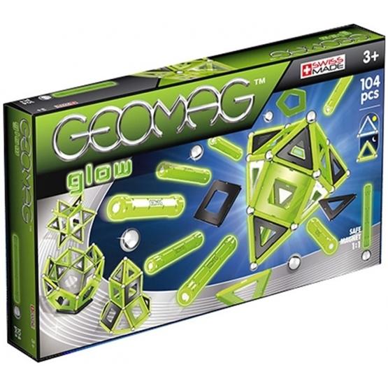 Geomag - Color Glow In The Dark Light Grön 104-Piece