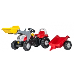 Rolly Toys - Rollykid Steyr 6165 Cvt Junior Röd