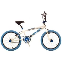 Bike Fun - BMX Cykel - Tornado 20 Tum Vit/Blå