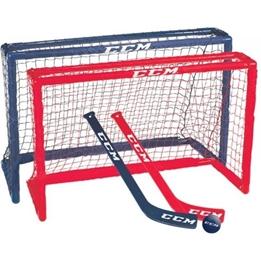 Ccm - Mini Hockey Set 81 X 53 X 30 Cm Junior Röd / Blå