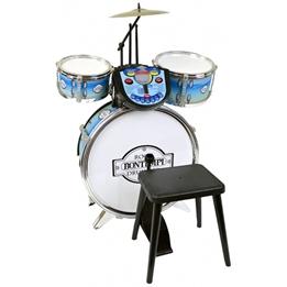 Bontempi - Trummset Rockdrummer With Tutor 4-Piece Blå