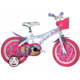 Dino - Barncykel - 146R Barbie 14 Tum Rosa