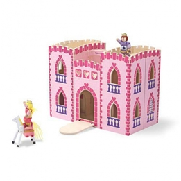 Melissa & Doug - Dockskåp Fold & Go Princesses Castle Rosa