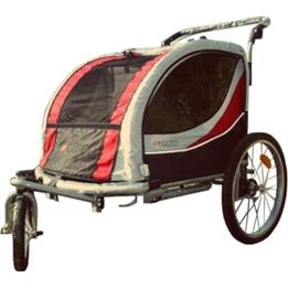 Amigo - Cykelvagn / Lastvagn - Deluxe 16 Tum Junior Svart/Röd
