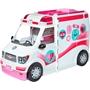 Barbie - Dockhus 2-In-1 Ambulance Girls 46 Cm Vit / Rosa