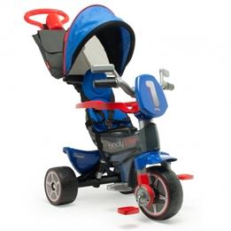 Injusa - Trehjuling - Body Max Denim Junior Blå