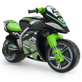 Injusa - Sparkmotorcykel Winner Kawasaki Svart / Grön