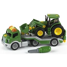 Klein - Traktor Med Transportör John Deere 14 Cm