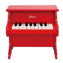 Hape - Piano Barn I Trä 18 Tangenter Röd