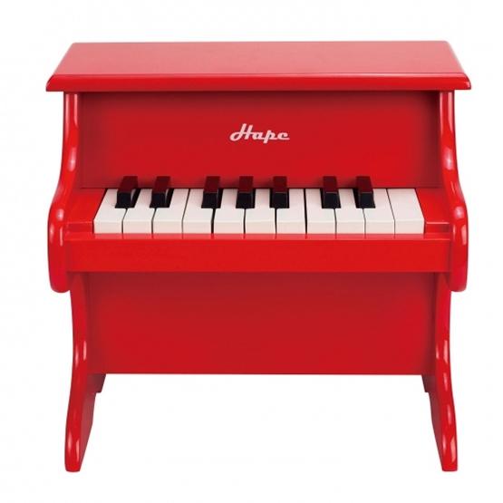 Hape - Wooden Piano 18 Keys Röd