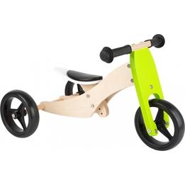 Small Foot - Balanscykel - Tricycle Trike 2-In-1 Loopfiets 10 Tum Junior Grön