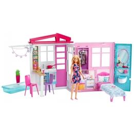 Barbie - Play Set Malibuhuis Girls 38 X 46 X 13 Cm Vit/Rosa