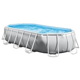Intex - Pool Inklusive Pump Prism 610 X 305 Cm Grå