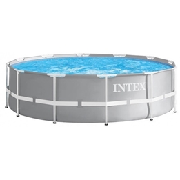 Intex - Above Ground Swimming Pool Without Pump 26710Np Prism 366 X 76 Cm Grå