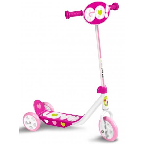 Skids Control - Sparkcykel - Love Rosa/Vit