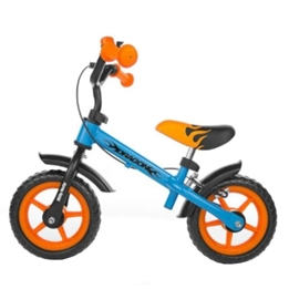 Milly Mally - Balanscykel - Dragon 10 Tum Blå/Orange