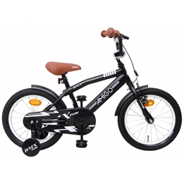 Amigo - BMX Cykel - Bmx Fun 16 Tum Matt Svart