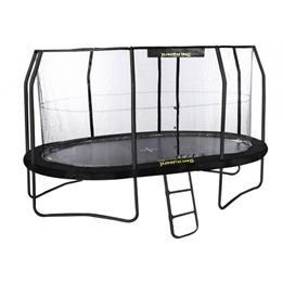 Jumpking - Studsmatta Med Nät Och Stege Oval 457 X 305 Cm