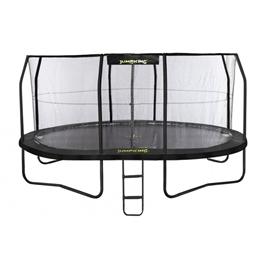 Jumpking - Studsmatta Med Nät Och Stege Oval 518 X 427 Cm