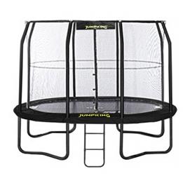 Jumpking - Studsmatta Med Nät Och Stege Oval 351 X 244 Cm