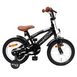 Amigo - BMX Cykel - Bmx Fun 14 Tum Matt Svart