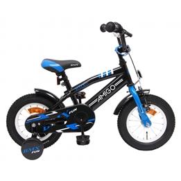Amigo - BMX Cykel - Bmx Fun 12 Tum Blå/Svart