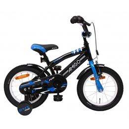 Amigo - BMX Cykel - Bmx Fun 14 Tum Svart/Blå