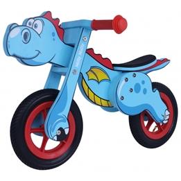 Milly Mally - Balanscykel - Dino Mini Loopfiets 12 Tum Junior Blå